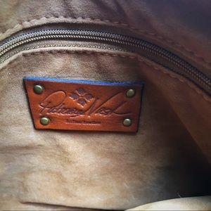 Patricia Nash Bags - Patricia Nash suede leather feather trim wristlet